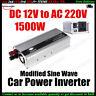12V à 220V 1500W AC Chargeur  Convertisseur Voiture puissance inverseur Solaire