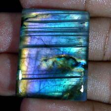 Labradorite Blue Flashy Fire Loose Semi Precious Gemstone Checker Cut Cabochon Blue Flashy Fire 15x20x6 mm Loose Gemstones Cut Labradorite.