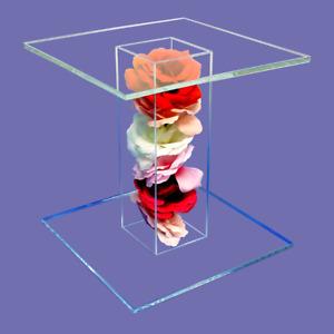 Flower Filled Acrylic Pedestal