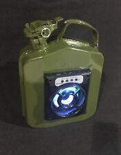 Impresionante Estilo Ejército bidón Altavoz Bluetooth Radio iPod Conexión Retro Funky