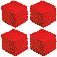 20 x RED CAR CLEANING DETAILING MICROFIBER SOFT POLISH CLOTHS TOWELS LINT FREE