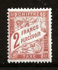 FRANCE (515) 1910  YV41  SG D311 POSTAGE DUE  2f VERMILION    FINE MOUNTED MINT