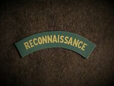 Reconnaissance Corps reproduction printed badges WWII for Battledress