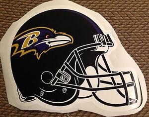 "17"" X 13"" NFL TEAM HELMET Baltimore Ravens Fathead Wall Graphics vinyl Poster"