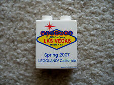LEGO Exclusive - Rare Promo Brick - Welcome To Las Vegas Legoland CA 2007 (wear)
