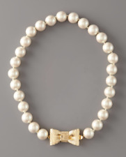 Kate Spade Women's Ivory Bow Clasp Pearl Necklace 0588