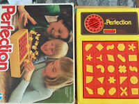 Vintage  PERFECTION & NUMBERS UP board games COMPLETE!