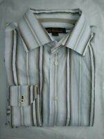 Mens Ben Sherman Textured Striped Long Sleeved Shirt | Size L Large