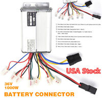 36V 1000W Electric Bicycle E-bike Scooter Brush Speed Motor Controller USA