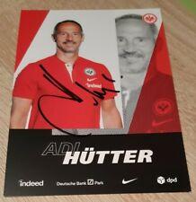 Adi Hütter (Eintracht Frankfurt 2020/2021) original signiert 2020/21 Österreich