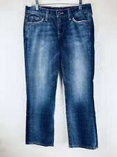 Lucky Brand Womens Jeans 4/27 Sweet N Straight Crop Stretch Distressed Denim