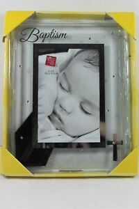 """Russ Small Blessings Baptism Photo Picture Frame Pink Accents 4""""x 6"""""""