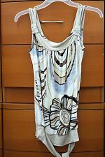BLOUSE SUMMER TOP SEXY TUNIC NATURAL STRETCH MADE IN EUROPE S M L XL 2XL