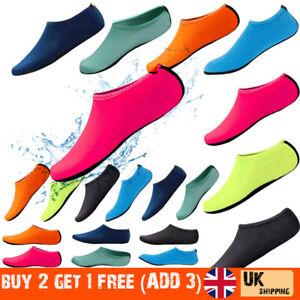 Women Men Water Shoes Aqua Socks Diving Socks Wetsuit Non-slip Swim Beach Sea ./