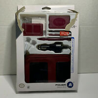 Power A Starter Kit for the Nintendo DS Lite Maroon Stylus Charger Case IN BOX!