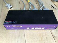Dakota Rose Electronics Vista 4-Port KVM Switch KVM-4PCA with 3m KVM PS2 cables