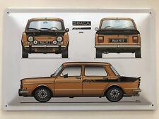 Blechschild 30 X 20 cm Simca Rallye 2 Baujahr 1976