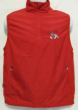 Fresno State Bulldogs University Womens Sz Small Vest Windbreaker Red Pullover