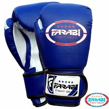 Farabi Kids Synthetic Leather Boxing Gloves MMA Sparring Punching Gloves Blue