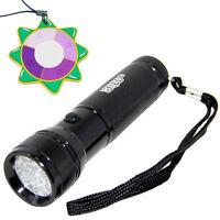 HQRP 365 nm 12 LED Ultra Violet Blacklight UV Flashlight Torch Light