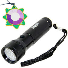 HQRP 365 nm 12 LED Ultra Violet Blacklight UV Flashlight Torch Light