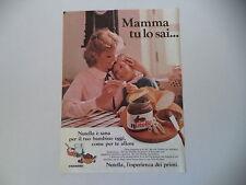 advertising Pubblicità 1984 NUTELLA FERRERO