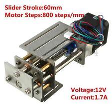 12V DIY CNC 3 Axis Engraving Machine Z Axis Slide Milling Linear Motion 60MM
