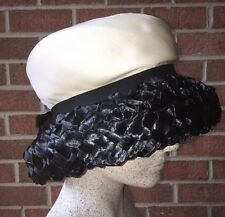 Vintage 1960's MR. JOHN BOUTIQUE for Woodward & Lothrop Woven Straw Brim Hat S/M
