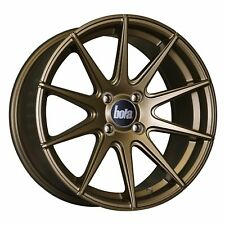 "17"" BOLA CSR ALLOY WHEELS MATT BRONZE FITS AUDI A3 S3 TT VW GOLF BEETLE 5X100"