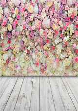 Photo Background Flower Photo Props Wood Floor Photography Backdrops Vinyl 5x7FT