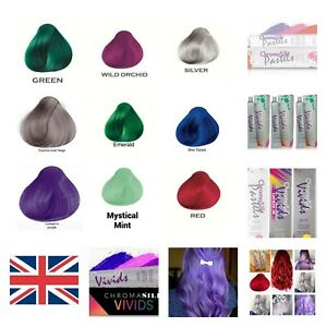 PRAVANA CHROMA SILK VIVIDS DEMI PERMANENT HAIR DYE - AlLL COLORS #UK seller