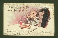 """""""I'm mixing with the upper crust"""" - Vintage Postcard Humour from USA"""