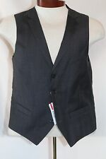 Alfani Vest, Charcoal Plaid Vest Charcoal 40S *Same Day Shipping*
