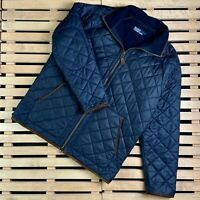Mens Quilted Bomber Jacket Polo Ralph Lauren Vintage Size L