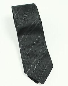 $225 New Mens Z Zegna Black 100% Silk Neck Tie Made In Italy