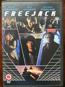 Freejack DVD 1992 Cult Action Sci-Fi Film Movie w/ Emilio Estevez + Mick Jagger