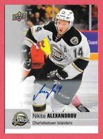 2019-20 Nikita Alexandrov Upper Deck CHL Rookie Auto - St. Louis Blues