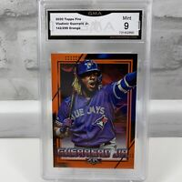 2020 Topps Fire Orange Parallel 142/299 Vladimir Guerrero Jr. #148 GMA Mint 9