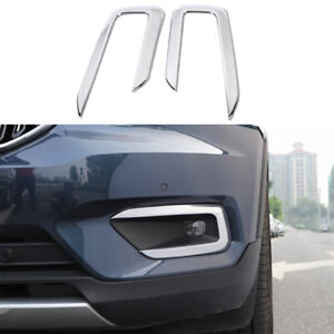 For Volvo XC40 2019-2021 ABS Chrome Front Fog Lamp Frame Decorative Cover Trim