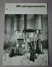 Massey Ferguson Cab Improvement Brochure from late 1960s