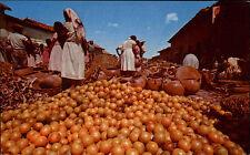 El Salvador ~1960/70 Orange Market at Santa Tecla Postcard Orange Orangen Markt