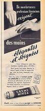 PUBLICITE ADVERTISING 114 1955 CREME NIVEA pour les mains