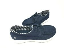 NEW! Skechers Women's GOWALK LITE LUNA Lace Up Shoes Navy/White #15436 180B tk
