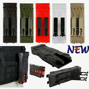 Tactical MOLLE 12 gauge Holder Buttstock Shell Pouch Ammo Carrier Parts