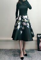 AUTH Ted Baker NERIDA Opal Print Full Skirt Dress1-5