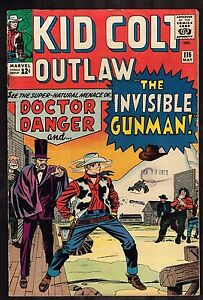 Kid Colt Outlaw #116 ~~ Dr. Danger and the Invisible Gunman ~ 1964 (4.0) WH