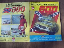 1971&1972 Nascar Darlington Raceway Southern 500 Race Programs Bobby Allison Win