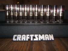 Craftsman 11pc 3/8 Metric DEEP 6pt LASER ETCHED Sockets Set Tools MM Point Drive