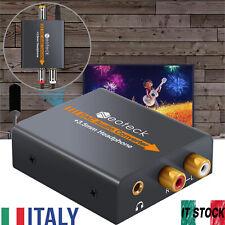 DAC Convertitore Audio Digitale ad Analogico Coassiale Ottico RCA L/R 3.5mm Jack