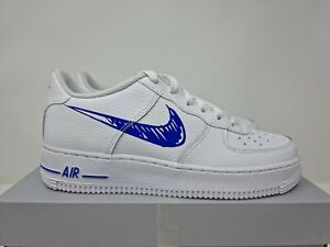 Nike Air Force 1 Low GS Sketch White Royal Blue UK 6 US 6.5 EU 39